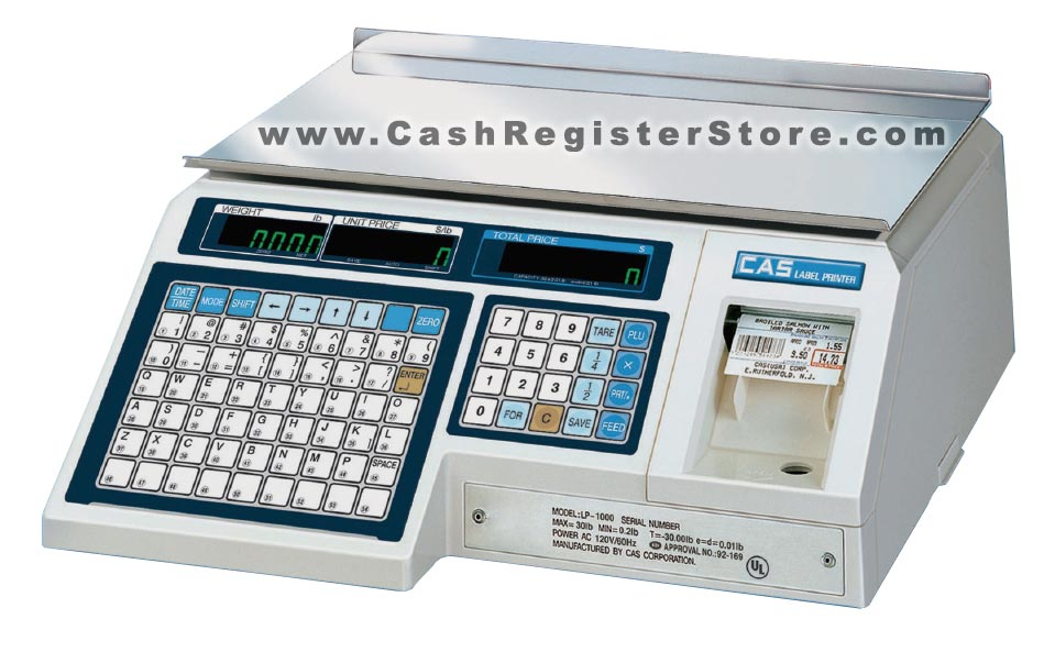 CAS LP-1000NP Barcode Printing Scale (w/ Free Lifetime Technical Support)