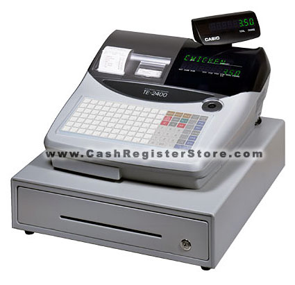 Casio TE-2400 Cash Register (w/ Free Lifetime Technical Support)