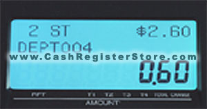 Casio TE-1500 Operator Display