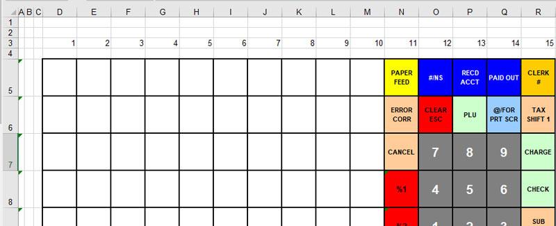 Sam4s keyboard layout template program.