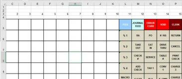 Keyboard Template For Sam4s Er 940